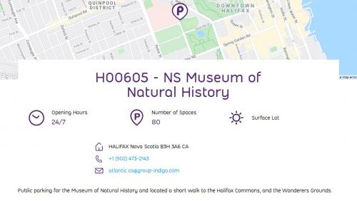 The Museum of Natural History has a pay and display lot.